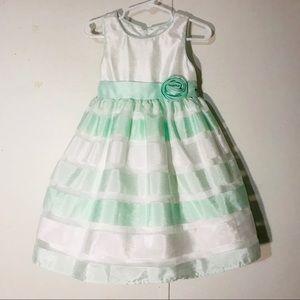 American Princess green and white dress